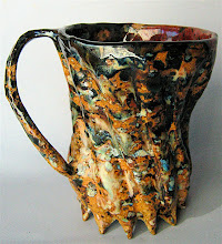"""Photo: ode to Jackson Pollack beer stein - 5.75"""" tall"""