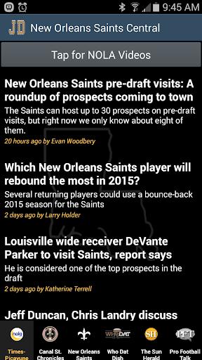 JD's New Orleans Saints News