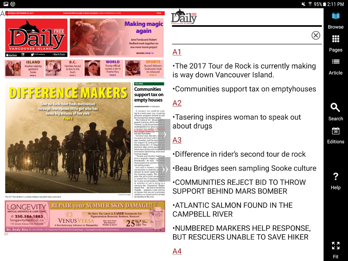 Vancouver Island Free Daily- screenshot