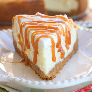 Vanilla Cheesecake with Salted Caramel.