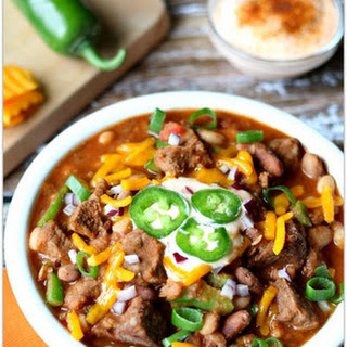 Slow Cooker Beefy 15 BEAN Chili