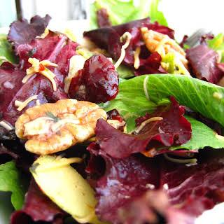 Pears & Mixed Greens Salad.