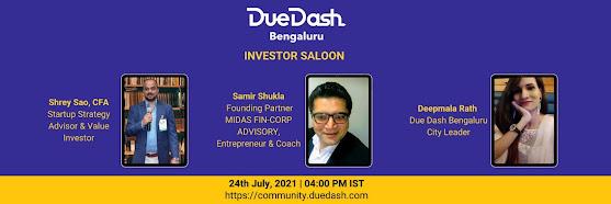 DueDash Bengaluru Investor Saloon: Samir Shukla & Shrey Sao