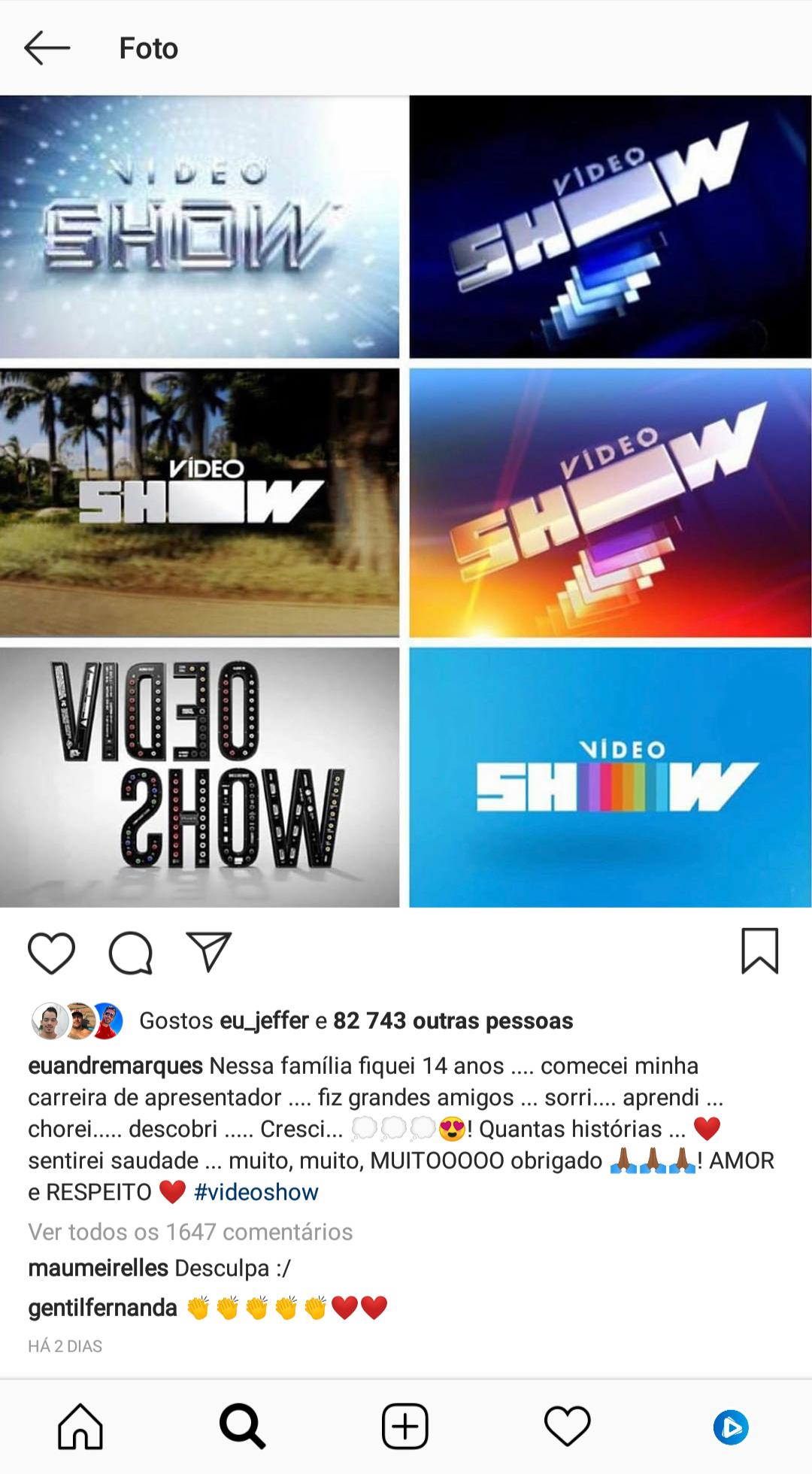Maurício Meirelles pede desculpa a André Marques pelo fim do Vídeo Show