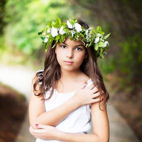 by Michiyo Clark - Babies & Children Child Portraits ( texas photographer, dfw, dallas photographer, child portrait, flower crown, senior photographer )