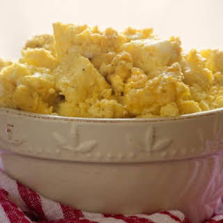 Easy Oven Baked Scrambled Eggs.