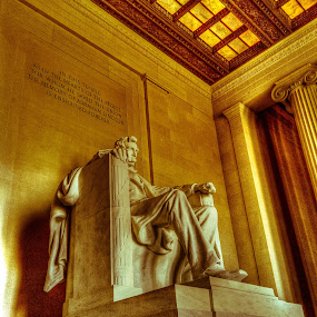 Lincoln Memorial Monument by Andrew Chung Chee Law - Buildings & Architecture Statues & Monuments