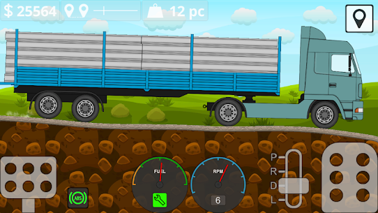 Mini Trucker – 2D offroad truck simulator Mod Apk Download For Android and Iphone 8
