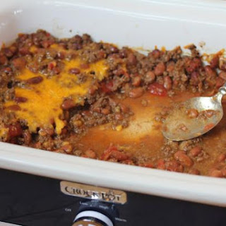 Crock Pot Beef and Bean Casserole.