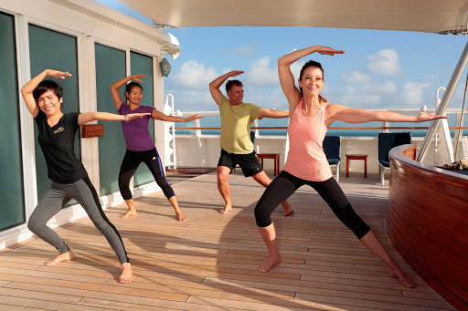 Tai chi and yoga are offered daily on SeaDream cruises.