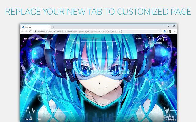 Hatsune Miku Wallpaper Custom Vocaloid NewTab