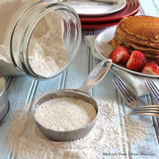 Homemade Whole Wheat Pancake Mix.