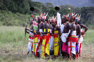 Photo: that night a group of Samburu Moran (young men) danced for us.