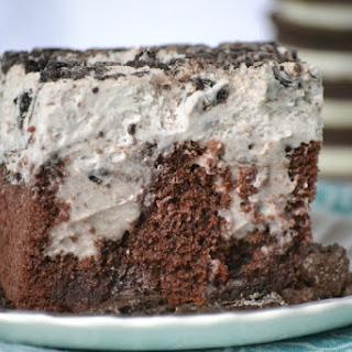 Cookies and Cream Poke Cake