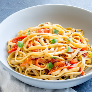 Roasted Red Pepper Pasta.
