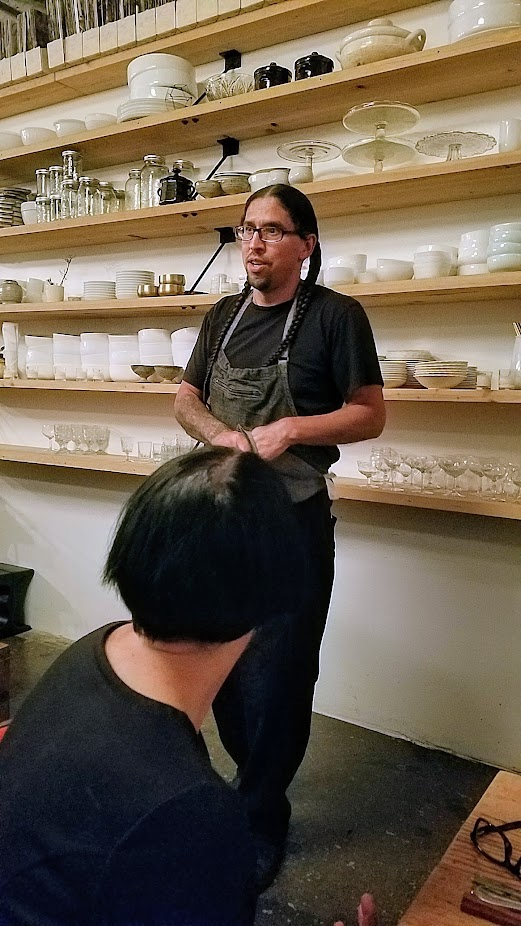 Flavors of Resilience: Indigenous Dinner at Han Oak on October 3, 2017 with Chef Brian Yazzie and Chef M. Karlos Baca
