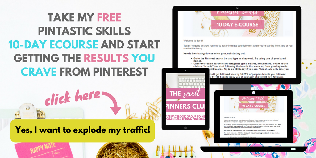 Pinterest for beginners e-course