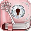 Cute Rose Gold Diary App icon