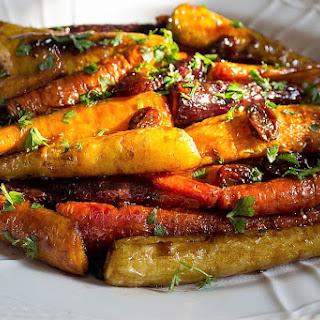 Roasted Glazed Carrot Tzimmes.