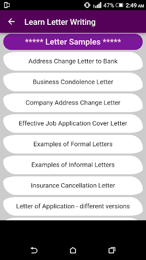 Learn English Letter Writing with 2000+ Examples ! 1.0 screenshots 7