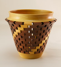 "Photo: Bob Grudberg 6"" x 7"" open segmented vessel [bubinga]"