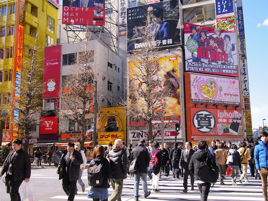The colorful Akihabara.
