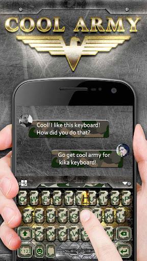 Cool Army Camo Keyboard Theme screenshots 2