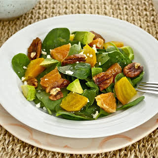 Roasted Golden Beet and Citrus Salad with White Balsamic Vinaigrette.