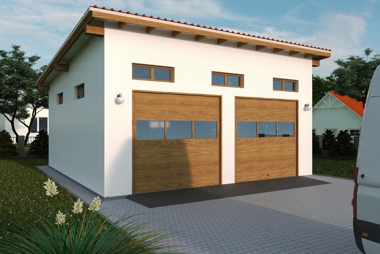 Projekt Garażu G115 Tqb 875 6031m²