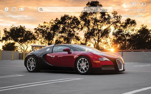 Bugatti HD new free tab theme