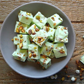 Easy Pistachio Fudge.