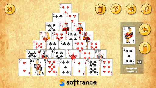 pyramid solitaire - free solitaire card game - screenshot 1