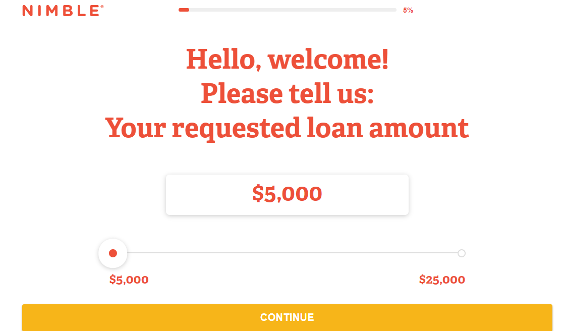 nimble loans online application process