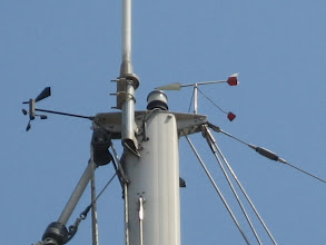 Photo: Ana direk tepesi.  Top of the main mast.