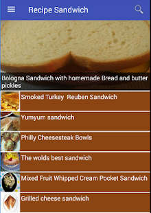 Recipe Sandwich American - náhled