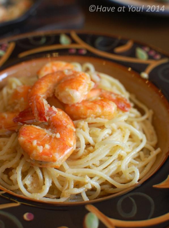 scampi spaghetti