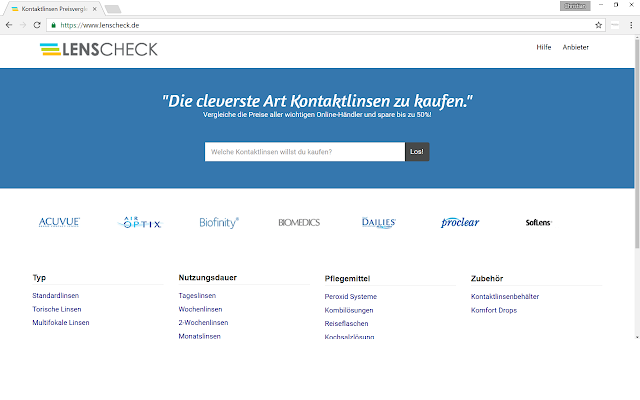 Kontaktlinsen Suche (Österreich)