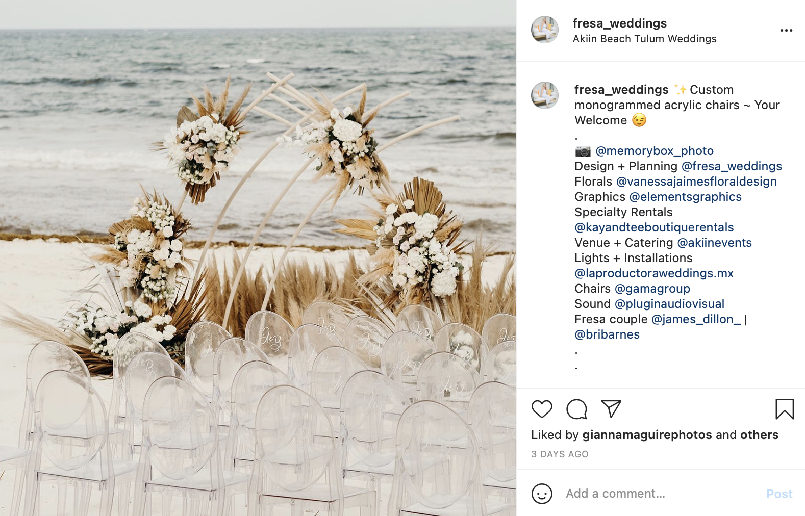 wedding with beach setting and floral arrangements