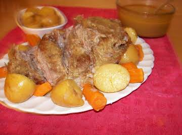 Gleason's Pork Roast with Mustard Gravy
