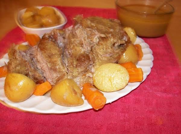 Gleason's Pork Roast With Mustard Gravy