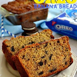 Oreo Cookies & Cream Banana Bread.