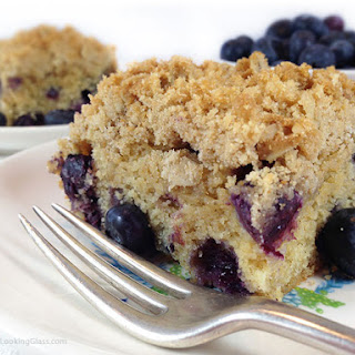 Healthier Oatmeal Streusel Blueberry Breakfast Cake Recipe