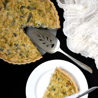 Vegan Leek Quiche.