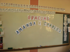 Photo: A sign made for us by the kids at the primaria at Jinua