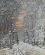 """Photo: Louis Apol, """"Inverno - entrata di un podere nei pressi de L'Aia"""""""