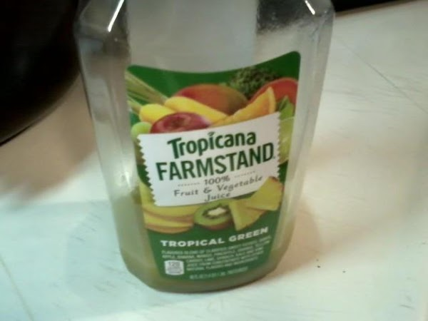 In a medium size bowl add juice. I used Tropicana farmstand Tropical Green, for...
