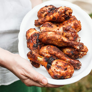 Spicy Grilled Chicken Drumsticks.