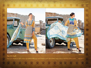 Photo: CODE: 1054 -FABRIC-TOP COTTON-BOTTOM COTTON-DUPATTA CHIFFON . Price : USD 32