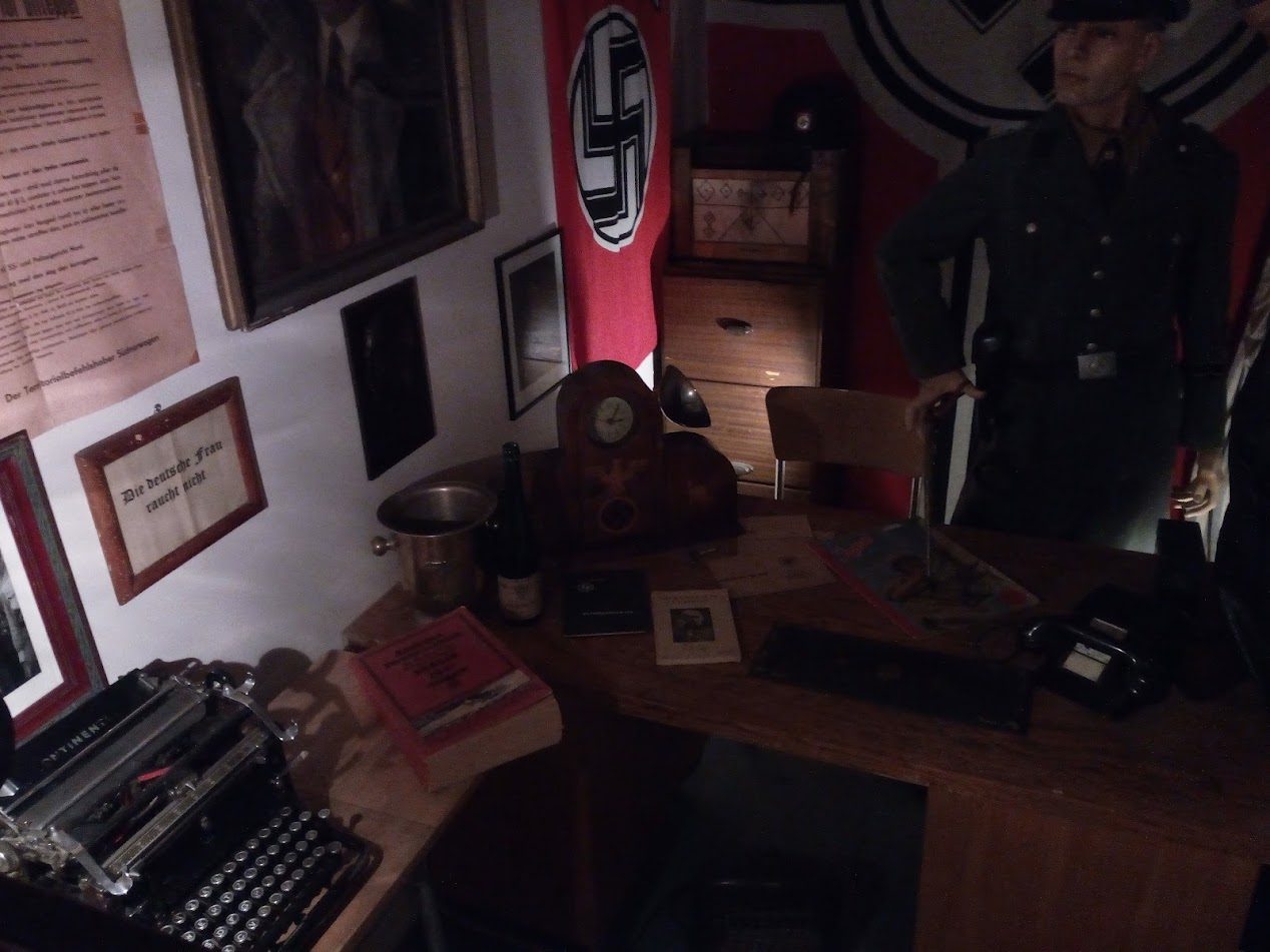 They even reconstructed a Gestapo room!