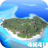 4K Maldives Paradise Drone Video Live Wallpaper